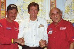 Johnny Hallyday, Hubert Auriol y René Metge