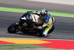 Loris Capirossi test moto eléctrica Saroléa en Aragón