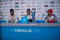 Conferenza stampa: il vincitore della gara, Sam Bird, DS Virgin Racing, il secondo classificato Jean