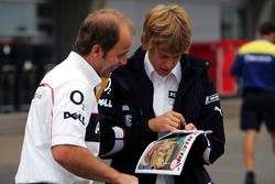Josef Leberer, BMW Sauber Physio with Sebastian Vettel, BMW Sauber Third Driver.
