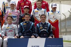 Gruppenfoto: Fahrer der Formel-2-Saison 2018