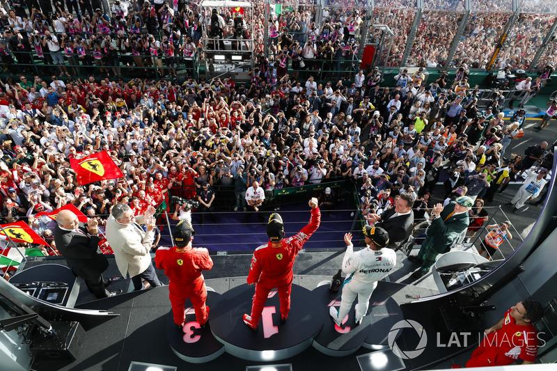 Sebastian Vettel, Ferrari, Lewis Hamilton, Mercedes AMG F1, Kimi Raikkonen, Ferrari