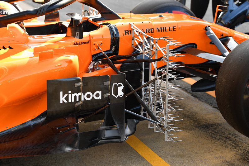 Stoffel Vandoorne, McLaren MCL33 con sensori aerodinamici