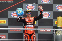 Podium: derde Marco Melandri, Aruba.it Racing-Ducati SBK Team