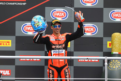 Podio: tercer puesto Marco Melandri, Aruba.it Racing-Ducati SBK Team