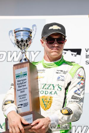 Spencer Pigot, Ed Carpenter Racing Chevrolet, podio