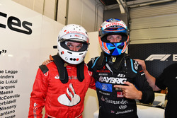 Jenson Button, F1 Experiences 2-Seater Driver and F1 Experiences 2-Seater passenger Guy Martin,