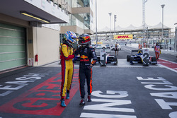 Second place Ryan Tveter, Trident, third place Dan Ticktum, DAMS