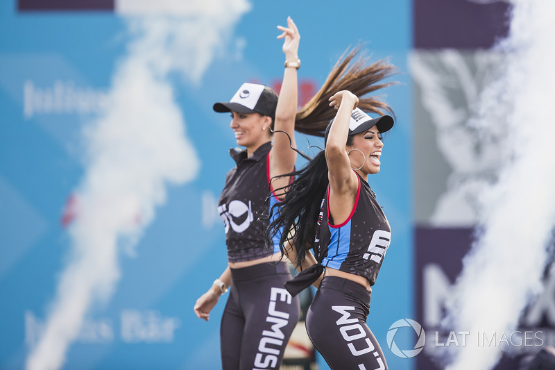 Dancers on the podium