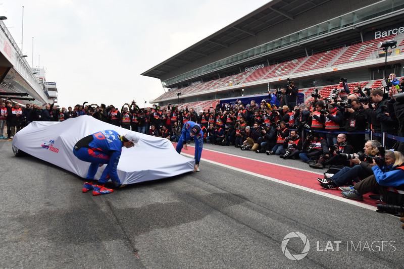 Brendon Hartley, Scuderia Toro Rosso and Pierre Gasly, Scuderia Toro Rosso unveil the new Scuderia T