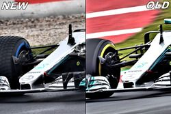 Mercedes F1 W09 comparación