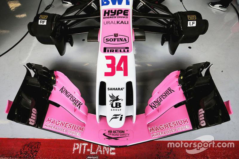 Sahara Force India F1 VJM11 front wing detail