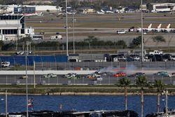 Kyle Larson, Chip Ganassi Racing, DC Solar Chevrolet Camaro, incidente