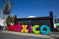 Mexico logo in the Fanzone