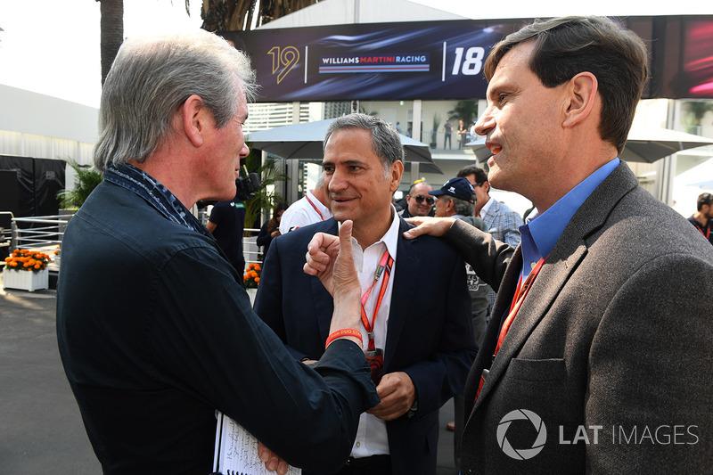 David Tremayne, periodista con Alejandro Soberon, presidente y CEO de CIE Group y presidente del GP de México