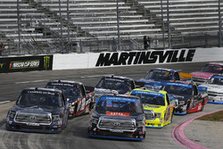 Christopher Bell, Kyle Busch Motorsports Toyota, Ryan Truex, Hattori Racing Enterprises Toyota