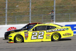 Brad Keselowski, Team Penske, Ford Mustang Menards/Richmond and Morgan Shepherd, Shepherd Racing Ventures, Chevrolet Camaro Visone RV