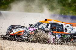 #18 M.Racing - YMR Ligier JS P3 - Nissan: Laurent Millara, Natan Bihel crash