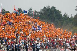 Dutch fans support Max Verstappen, Red Bull Racing
