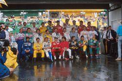 Gruppenfoto: Fahrer der Formel-1-Saison 1989