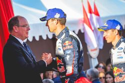 Winners Sébastien Ogier, Julien Ingrassia, Ford Fiesta WRC, M-Sport Ford with HSH Prince Albert of Monaco