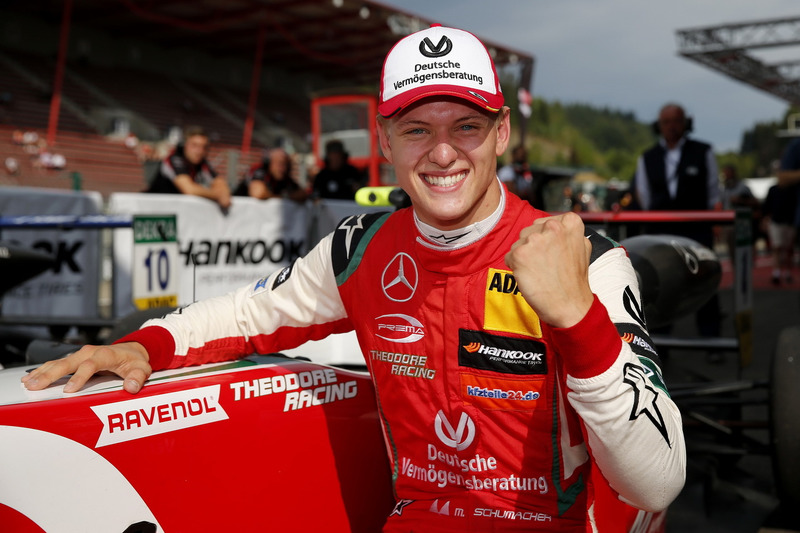 El ganador Mick Schumacher, PREMA Theodore Racing Dallara F317 – Mercedes-Benz