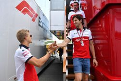 Marcus Ericsson, Sauber and Antonio Giovinazzi, Sauber