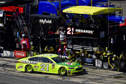 Paul Menard, Wood Brothers Racing, Ford Fusion Menards / Libman makes a pit stop, Sunoco