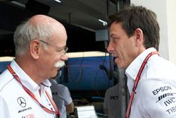 Dr Dieter Zetsche, CEO, Mercedes Benz, Toto Wolff, Executive Director (Business), Mercedes AMG