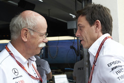 Dr Dieter Zetsche, CEO, Mercedes Benz, and Toto Wolff, Executive Director (Business), Mercedes AMG