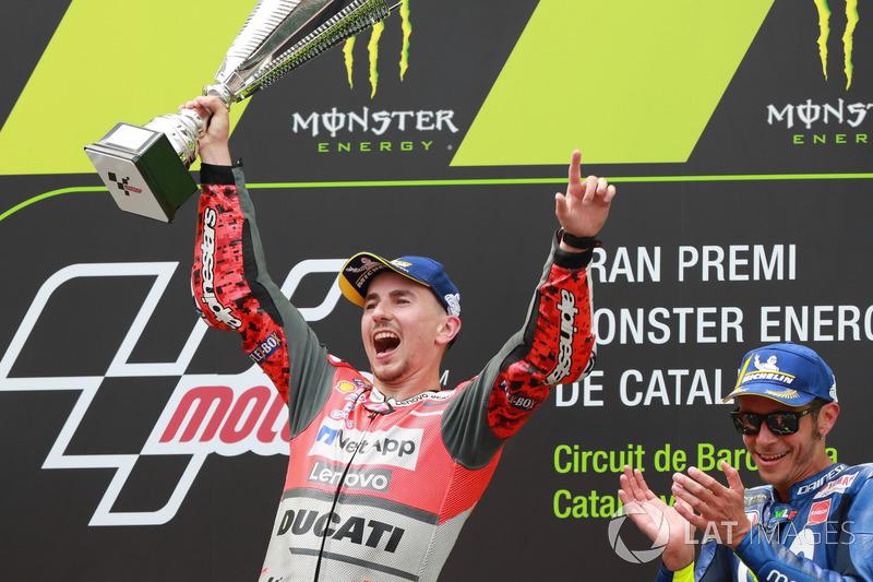 Podio: Jorge Lorenzo, Ducati Team