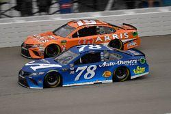 Martin Truex Jr., Furniture Row Racing, Toyota Camry Auto-Owners Insurance and Daniel Suarez, Joe Gi