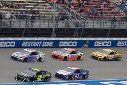 Jimmie Johnson, Hendrick Motorsports, Chevrolet Camaro Lowe's for Pros Darrell Wallace Jr., Richard