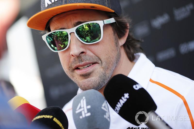 Fernando Alonso, McLaren, medyaya konuşuyor