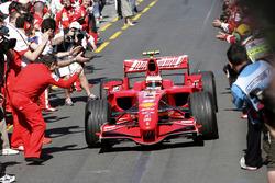 Race winner Kimi Raikkonen, Ferrari F2007