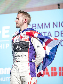 Sam Bird, DS Virgin Racing, on the podium