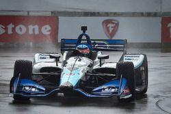Takuma Sato, Rahal Letterman Lanigan Racing Honda en qualifications sous la pluie