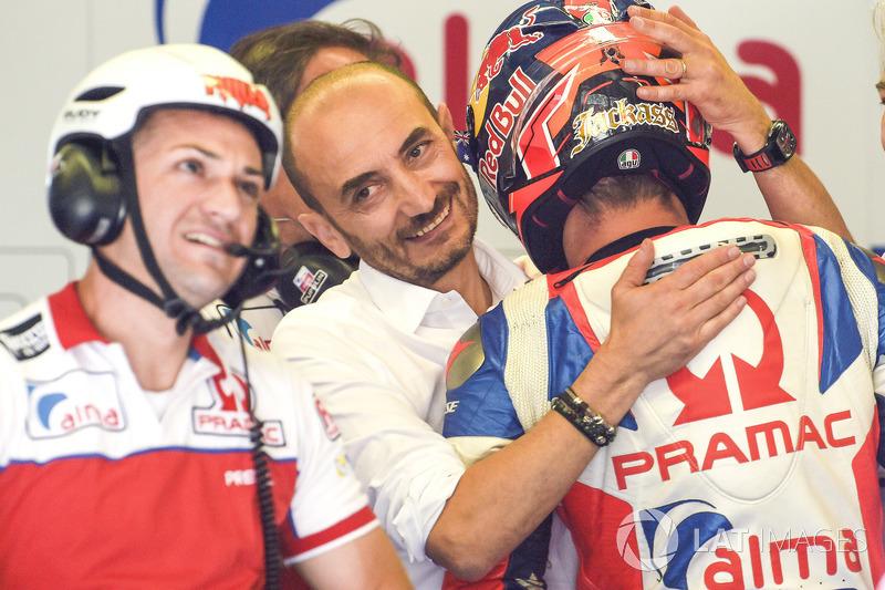 Jack Miller, Pramac Racing, con Claudio Domenicali, CEO de Ducati