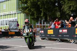 Jonathan Rea, Kawasaki Racing in parc ferme