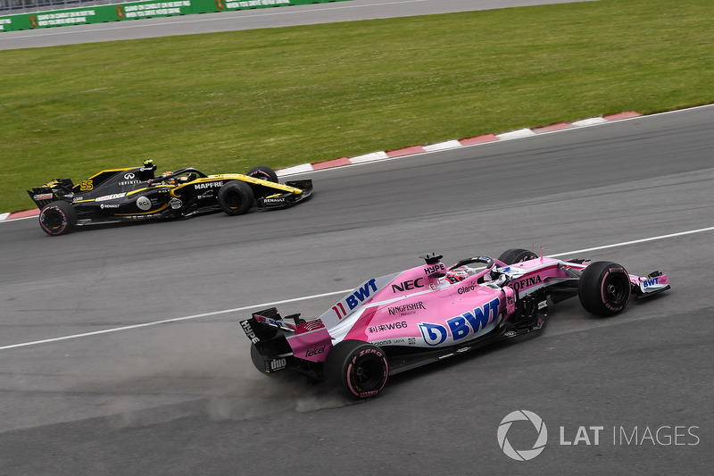 Sergio Perez, Force India VJM11 spins