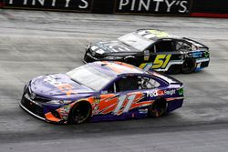 Denny Hamlin, Joe Gibbs Racing, Toyota Camry FedEx Freight and Harrison Rhodes, Rick Ware Racing, Chevrolet Camaro Industrial Construction Experts, Inc