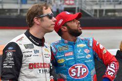 Brad Keselowski, Team Penske, Ford Fusion Discount Tire, Darrell Wallace Jr., Richard Petty Motorsports, Chevrolet STP