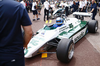 Keke Rosberg is reunited with his 1982 Williams FW08 Cosworth