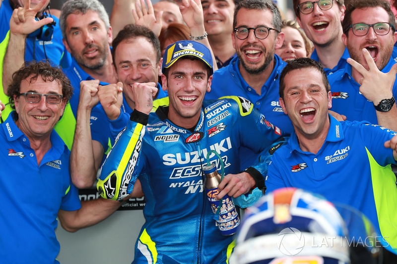 Third place Alex Rins, Team Suzuki MotoGP