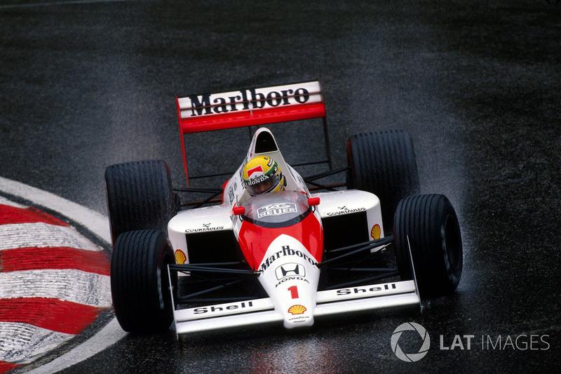 Ayrton Senna - McLaren MP4 / 5-Honda - GP de Bélgica 1989
