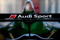 Audi logo on the rear wing of the car of Lucas di Grassi, Audi Sport ABT Schaeffler