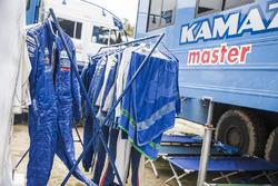 Team Kamaz Master in het bivak