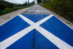 FlagofScotland on the road