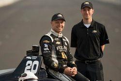 Ed Carpenter, Ed Carpenter Racing Chevrolet, front row
