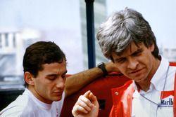 Ayrton Senna, McLaren with Steve Nichols, McLaren Designer